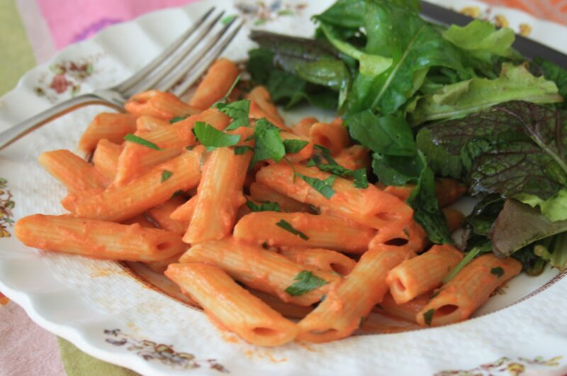 Penne Pasta with Tomato Vodka Sauce