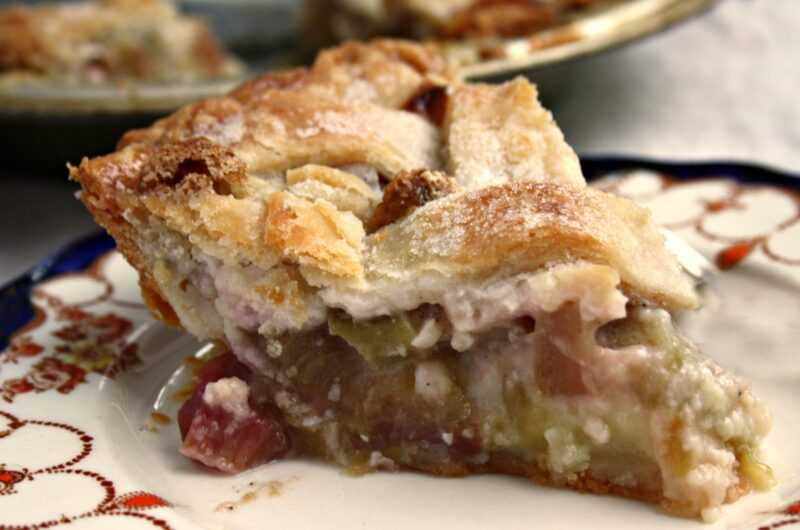 Mom's Rhubarb Pie | My first authentic Canadian food experience: