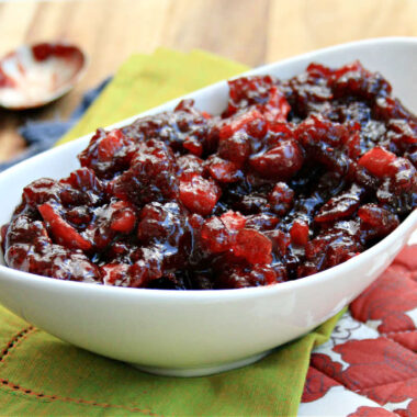 cranberry sauce with apple