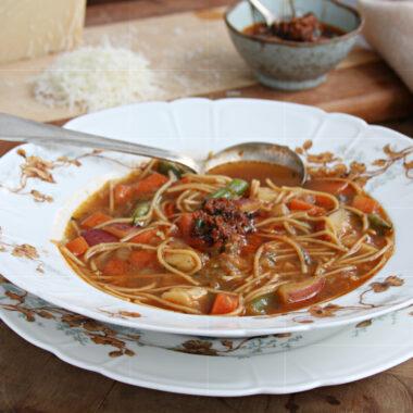 French vegetable soup, soup au pistou
