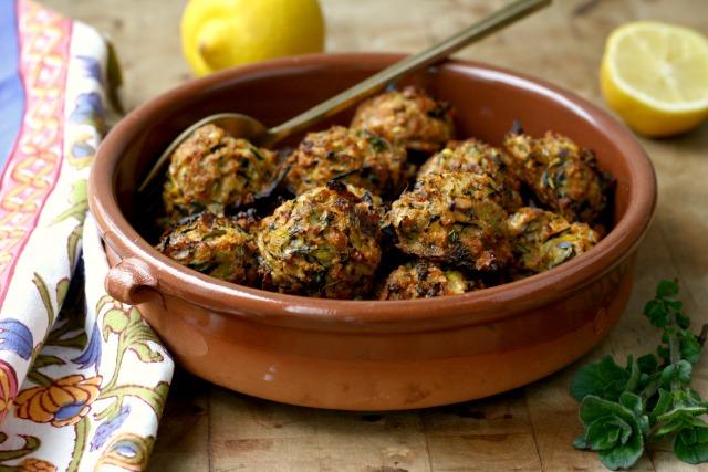 "vegetarian zucchini ""meat"" balls"