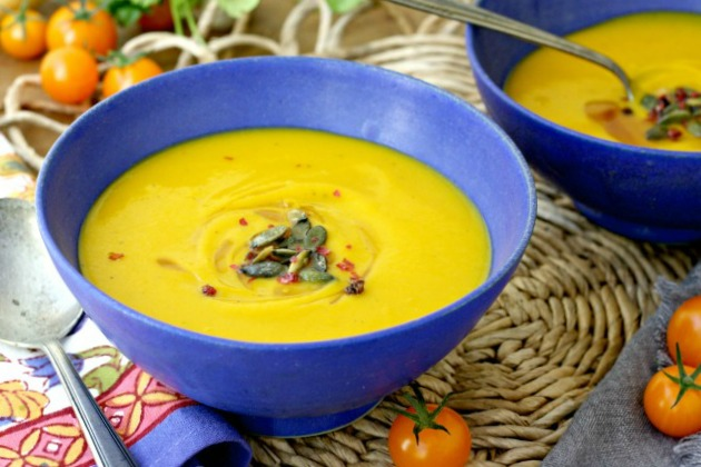 This easy Buttercup Squash soup recipe is a beautiful way to enjoy fresh winter squash. It's quick enough to make on a weeknight