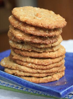 Crispy coconut oatmeal cookies