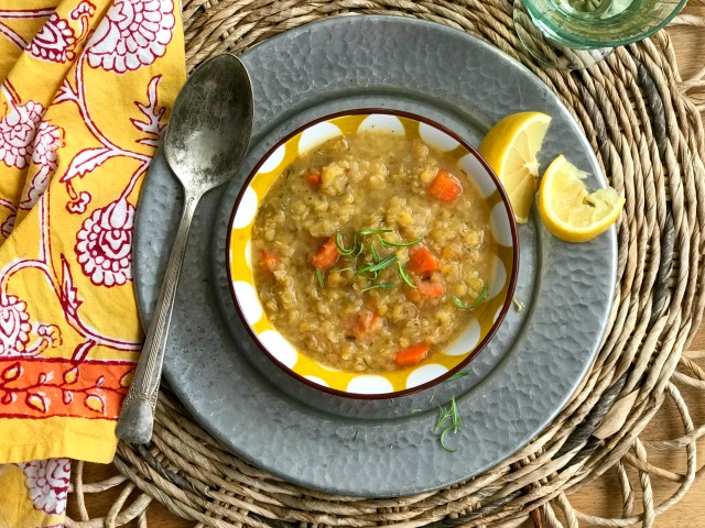 Sunshine Lentil Soup is Easy, Warming & Brightly Flavoured with Lemon