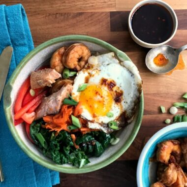 Seafood Bibimbap a meatless Veggie-filled Korean Rice Bowl