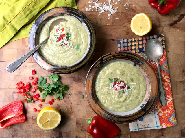 Vegan cream of broccoli soup is a creamy, cream-less soup with substance. Ready in 30 minutes.