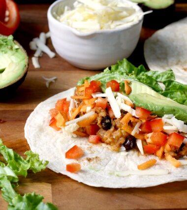 speedy lentil tacos