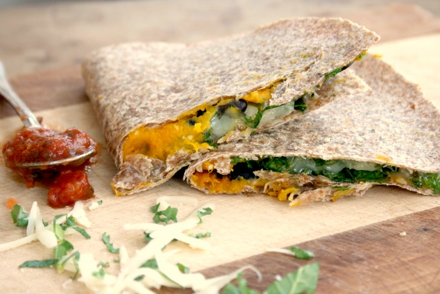 Roasted squash and black bean quesadillas | a vegetarian meal with substance.